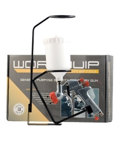 Workquip Gravity Feed Spray Gun - with 3 nozzle sizes