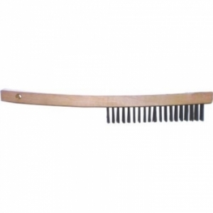 Wire Brush (bent) 11x3row Wooden handle