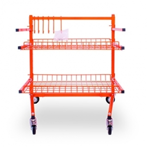 VELOCITY PARTS CART WITH TWO SHELVES